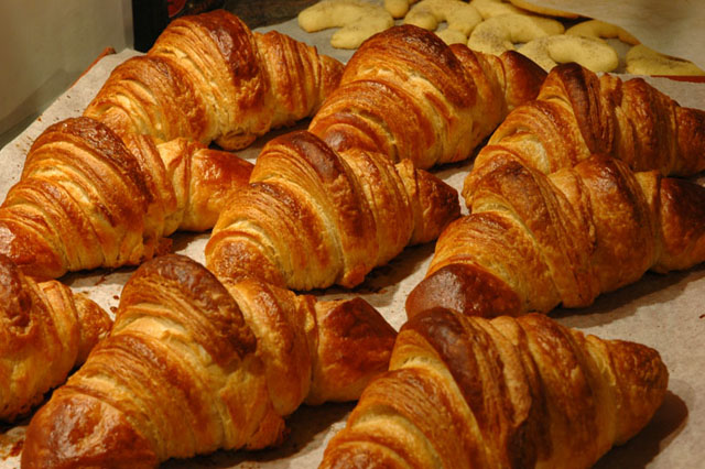 warm egg salad on croissants with country bacon and arugula croissants ...